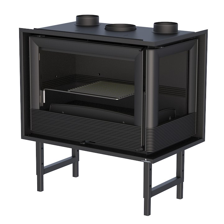 Bronpi Paris 70-E Wood Cassette Fire - Corner - Black
