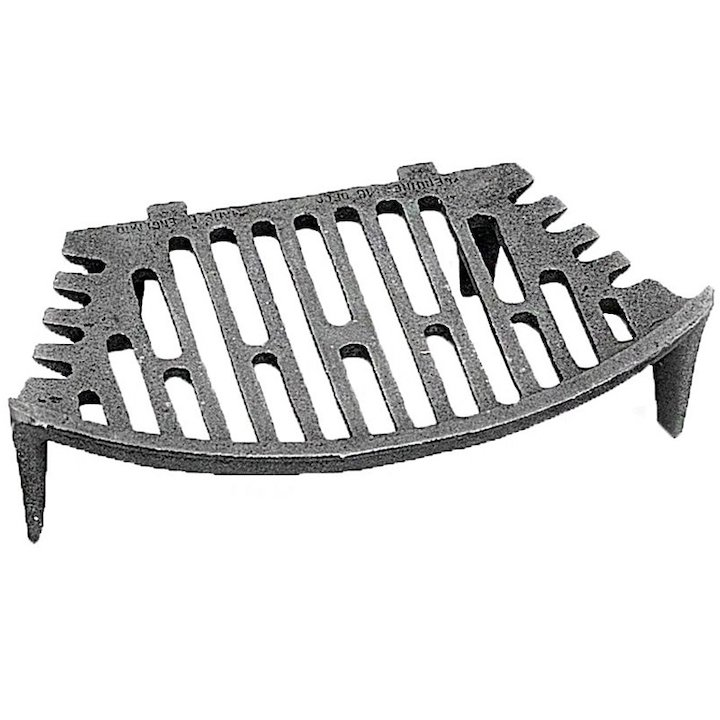 Manor Curved Solid Fuel Tapered Grate - Black