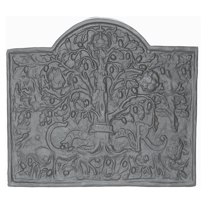 Calfire Royal Oak Large Cast-Iron Fire Back Plate