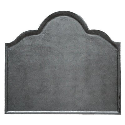 Calfire Plain Large Cast-Iron Fire Back Plate