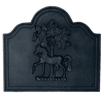 Calfire Horse Chestnut Cast-Iron Fire Back Plate