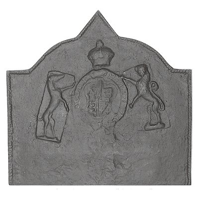 Calfire Medieval Large Cast-Iron Fire Back Plate