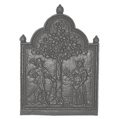 Calfire Tree of Life Cast-Iron Fire Back Plate