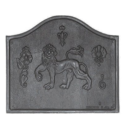Calfire Lion Cast-Iron Fire Back Plate