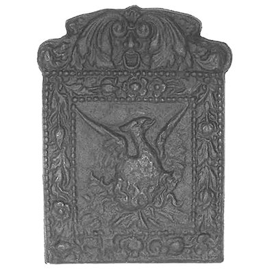 Calfire Phoenix Cast-Iron Fire Back Plate