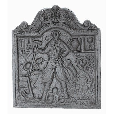 Calfire Ironfounder Cast-Iron Fire Back Plate