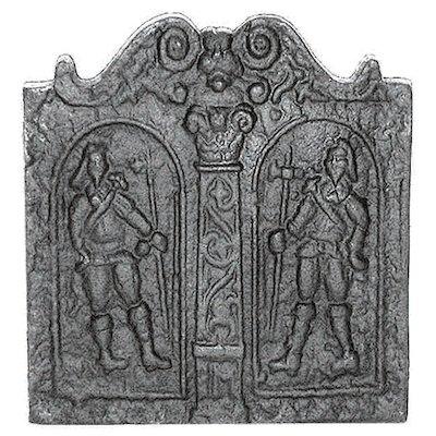 Calfire Pikemen Cast-Iron Fire Back Plate