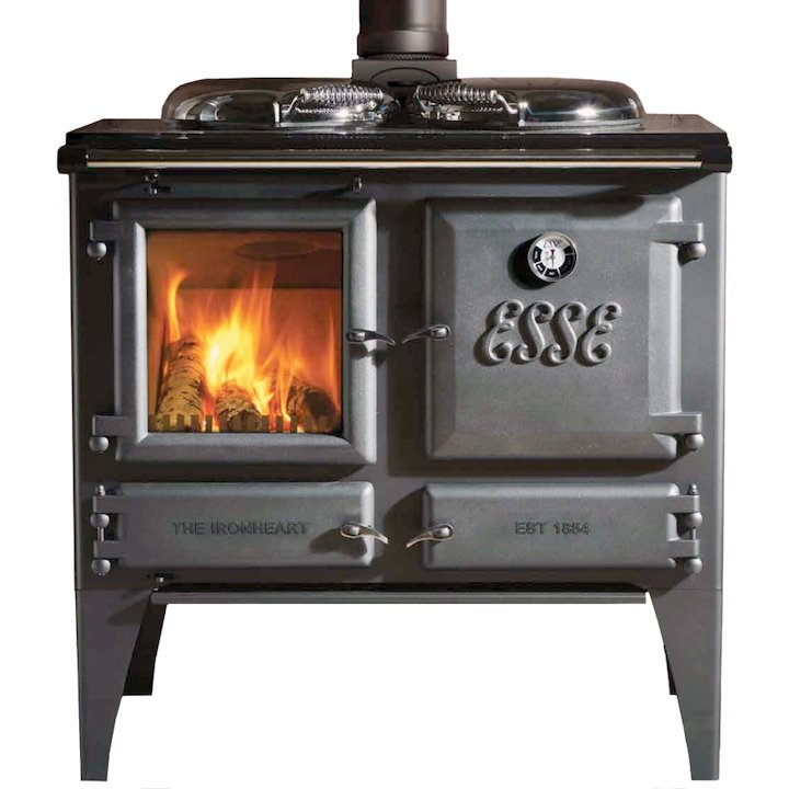 ESSE Ironheart Solid Fuel Boiler Cooker Anthracite Deluxe - Anthracite