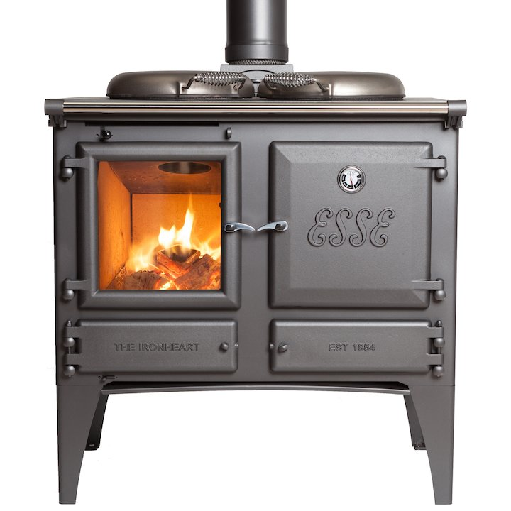 ESSE Ironheart Solid Fuel Boiler Cooker Anthracite Standard - Anthracite