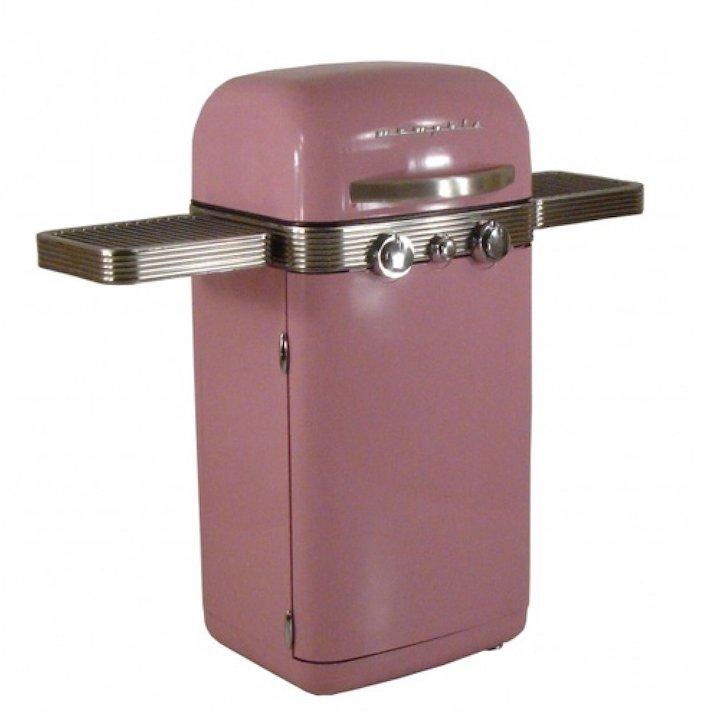 Sahara Memphis Retro Gas BBQ - Pink