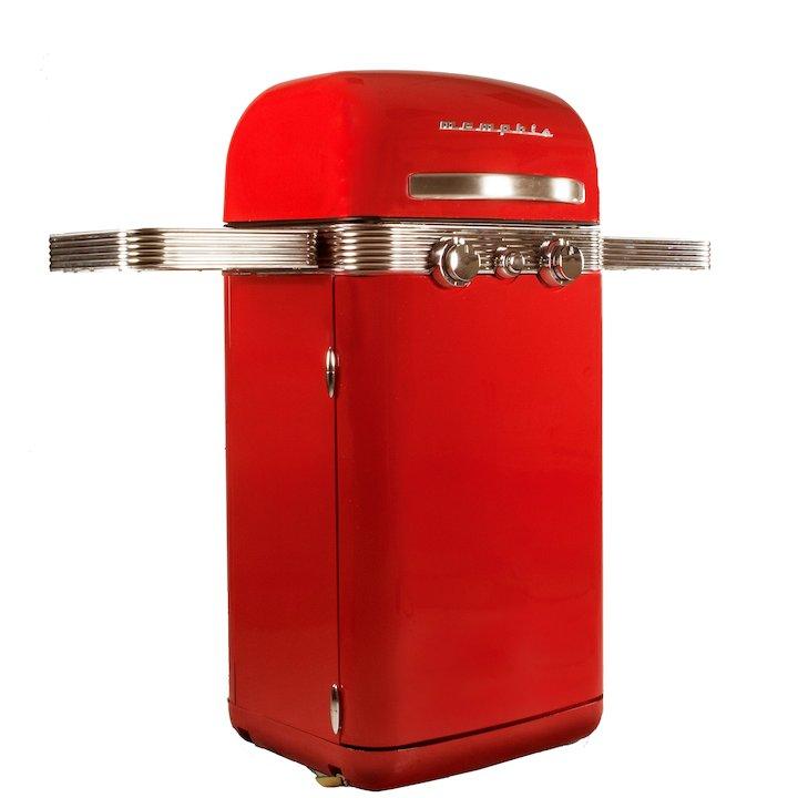 Sahara Memphis Retro Gas BBQ - Red