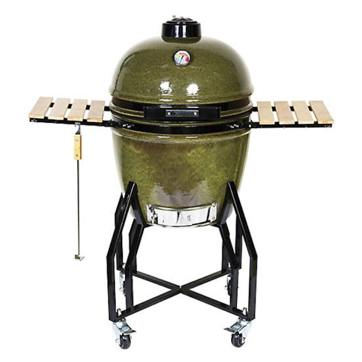 La Hacienda Kamado Large Ceramic BBQ Oven - With Stand - Moss Green