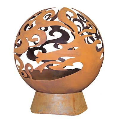 La Hacienda Dragon Fire Globe Outdoor Firepit