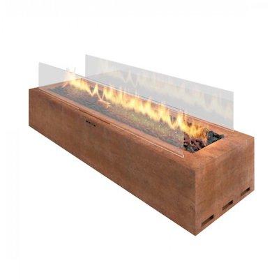 Planika Galio Rectangular Freestanding Outdoor Gas Firepit