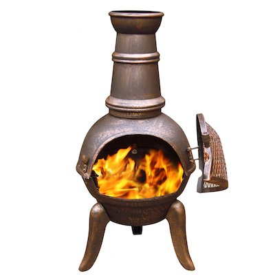 Gardeco Granada 90 Cast-Iron Chiminea