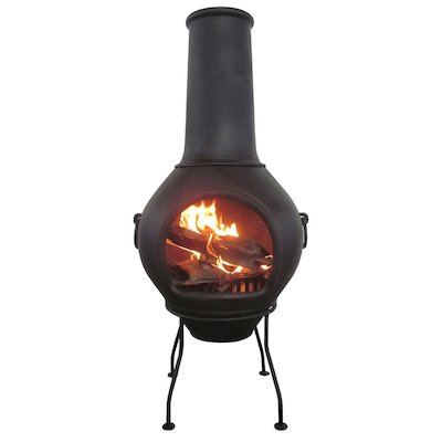 Gardeco Helios Large Cast-Iron Chiminea