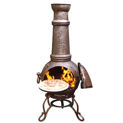 Gardeco Toledo Grapes XL Cast-Iron Chiminea