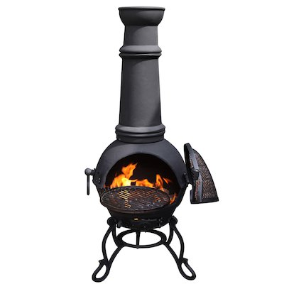 Gardeco Toledo Plain XL Cast-Iron Chiminea