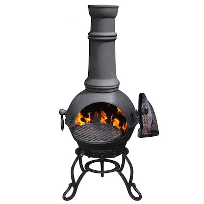 Gardeco Toledo Plain Large Cast-Iron Chiminea