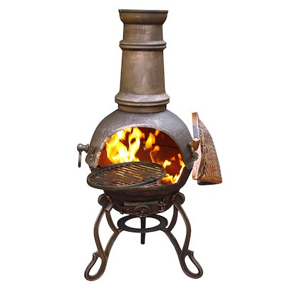 Gardeco Toledo Plain Medium Cast-Iron Chiminea