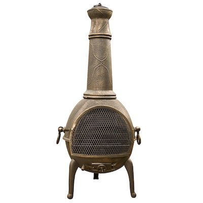 La Hacienda Sierra Jumbo Cast-Iron Chiminea
