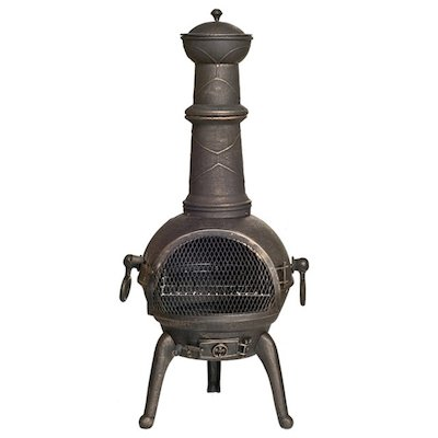 La Hacienda Sierra Large Cast-Iron Chiminea