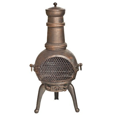 La Hacienda Sierra Medium Cast-Iron Chiminea