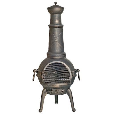 La Hacienda Sierra XL Cast-Iron Chiminea