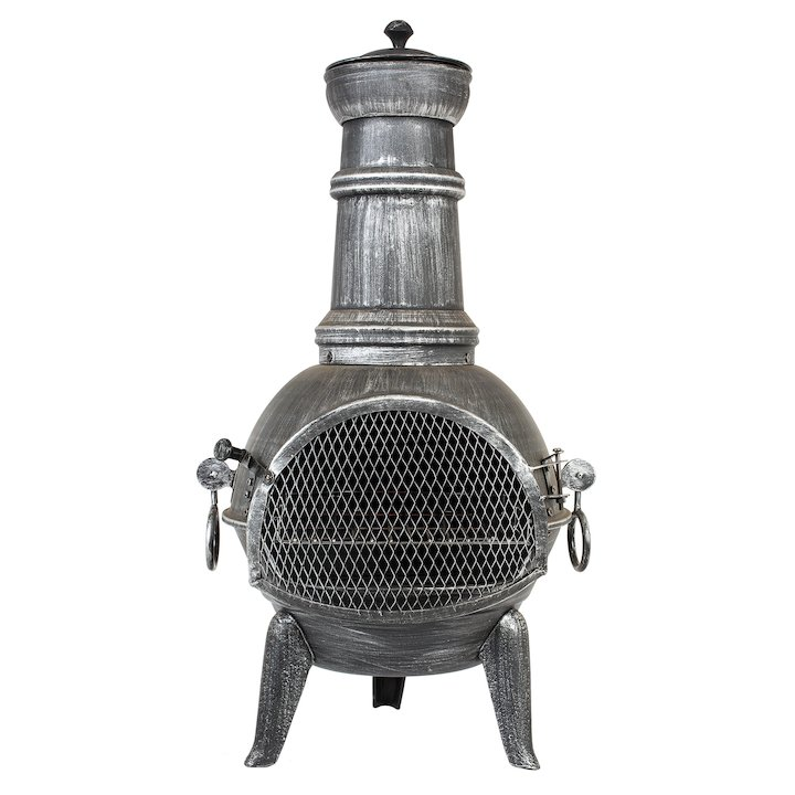 La Hacienda Arriba Steel Chiminea - Pewter