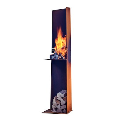 Rais Angle Outdoor Modern Chiminea