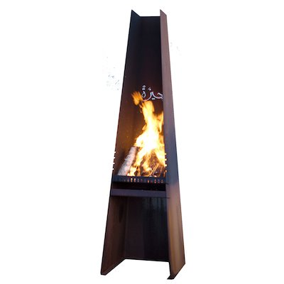Rais Gizeh Outdoor Modern Chiminea