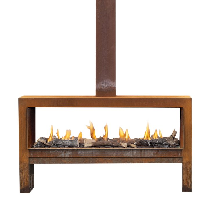 Faber Mood Double Sided Outdoor Patio Gas Fire