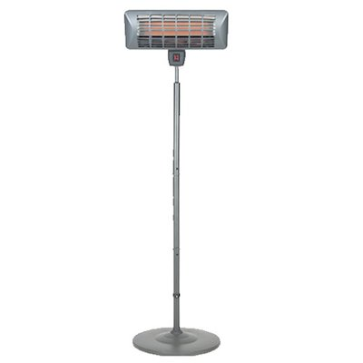 La Hacienda Grey Freestanding Quartz 2000W Electric Patio Heater