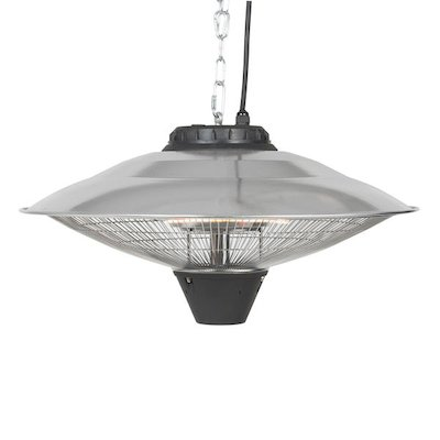 La Hacienda Silver Hanging Carbon Fibre 2100W Electric Patio Heater