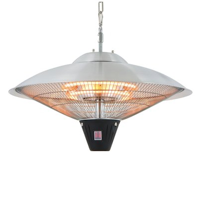 La Hacienda Silver Hanging Halogen 2100W Electric Patio Heater