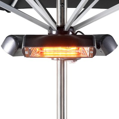La Hacienda Heatmaster Slimline Super Parasol 2400W Electric Patio Heater