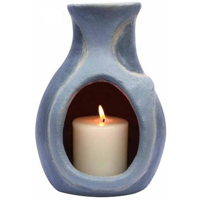 Gardeco Mini Water Elements Clay Chiminea Candle