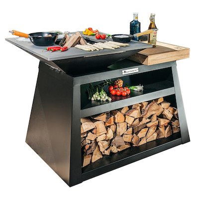 Quan Quadro Basic Big Plancha Firepit Table