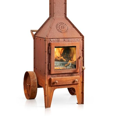 RB73 Bijuga Wheels Outdoor Wood Stove