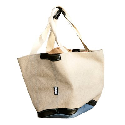 Rais Woody Canvas Tote Bag Log Carrier