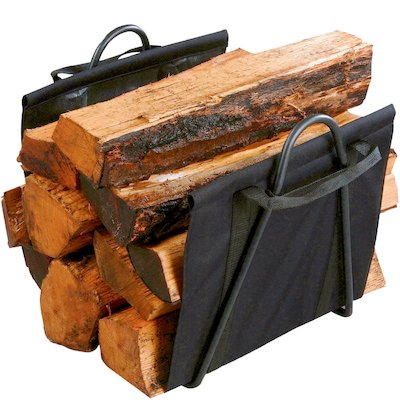 Calfire Clive Canvas Log Carrier - With Stand