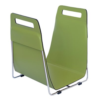 Ferrari Opus Focus Corrium Log Carrier - With Stand Green Stainless Steel