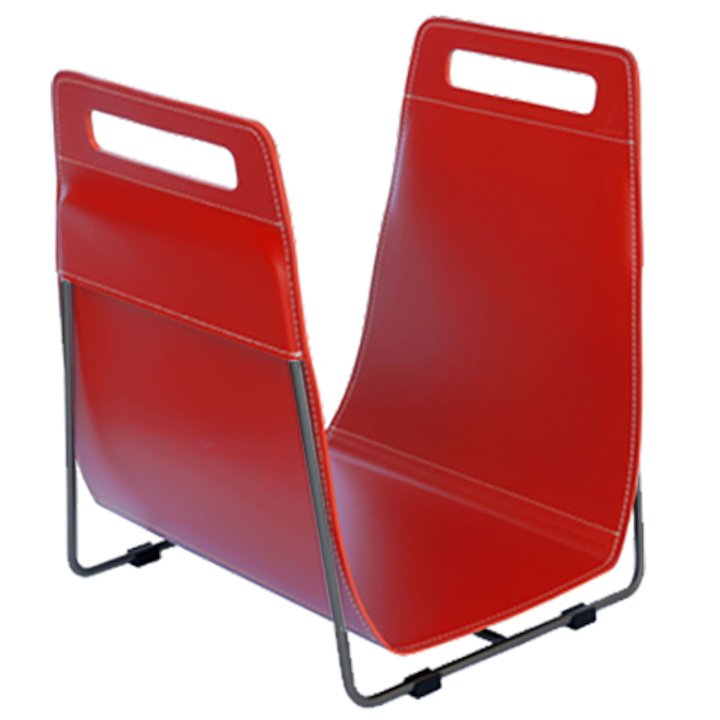 Ferrari Opus Focus Corrium Log Carrier - With Stand Red Grey Iron Stand - Red