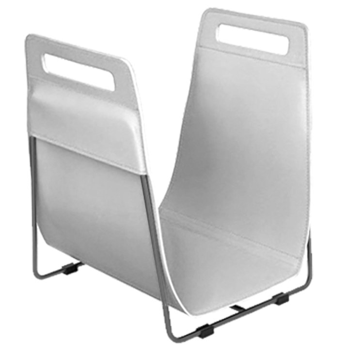Ferrari Opus Focus Corrium Log Carrier - With Stand White Grey Iron Stand - White