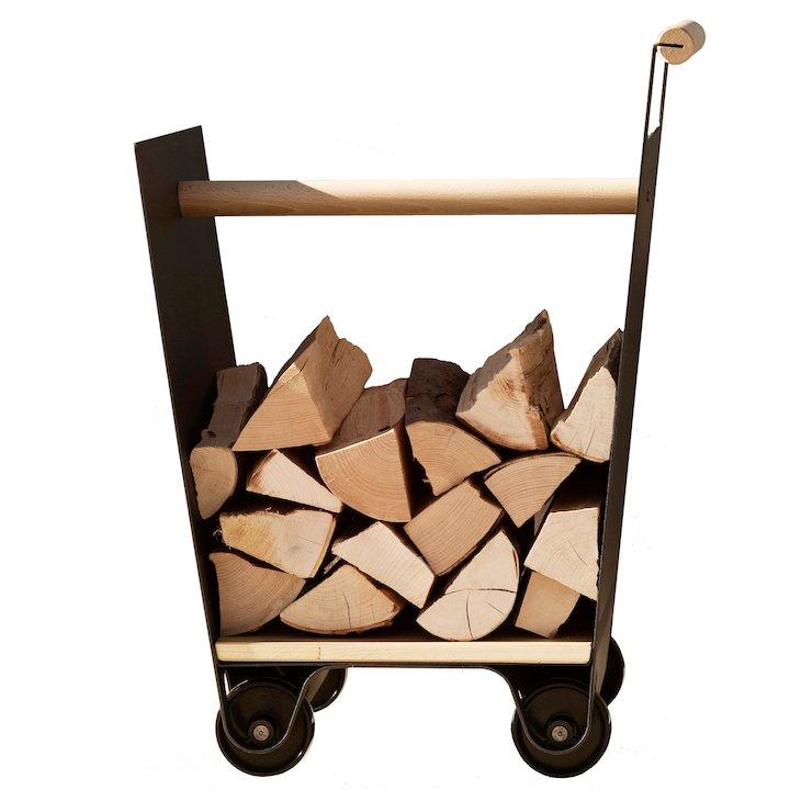 Ferrari Opus Focus Currus Firewood Log Trolley - Dark Grey