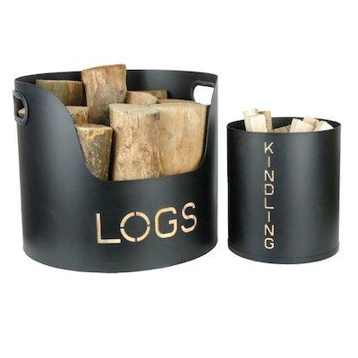 Manor Wood & Kindling Log Tubs - Set of 2