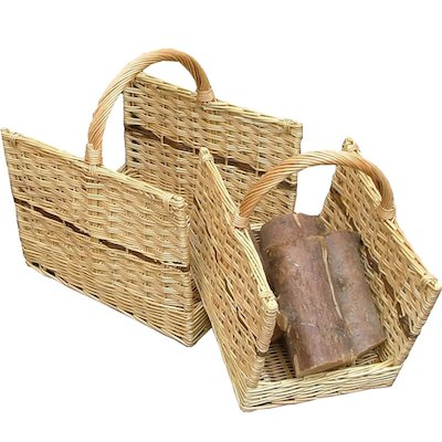 Calfire Open End Log Baskets - Set of 2