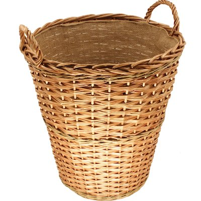 Calfire Round Tall Log Basket