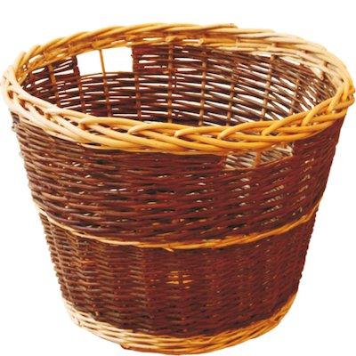Calfire Round Rustic Log Basket