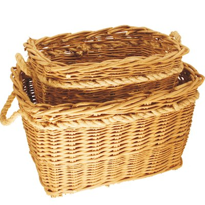 Calfire Deep Mill Log Baskets - Set of 2